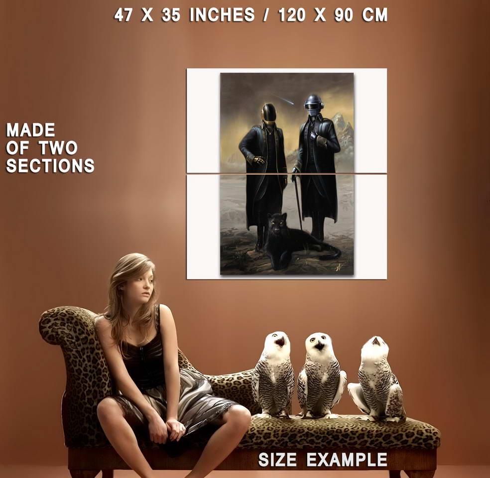 58937 Daft Punk The Weeknd Starboy Metallic Wall Print Poster UK