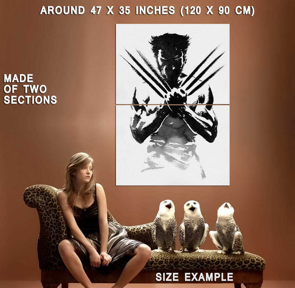 61401-The-Wolverine-Black-And-White-Wall-Print-Poster-Affiche