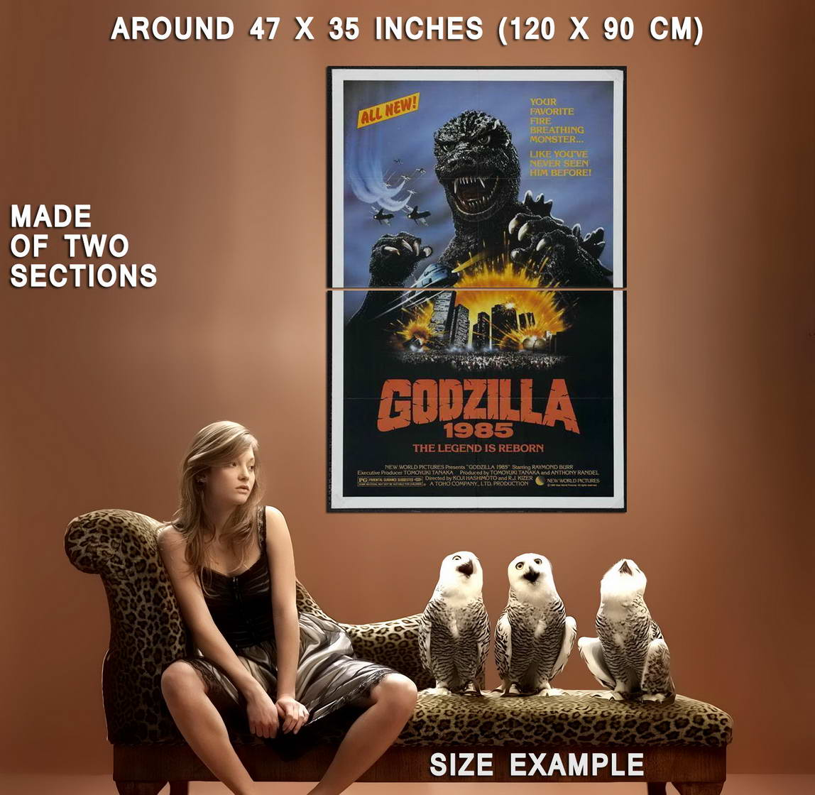 67677-Godzilla-1985-Movie-Keiju-Kobayashi-Wall-Print-Poster-Affiche