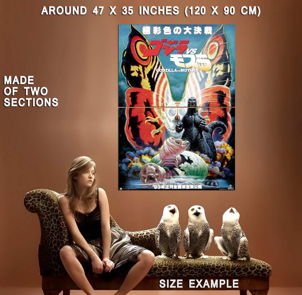 72235-GODZILLA-vs-MOTHRA-Movie-Rare-Mothra-Ghidorah-Wall-Print-Poster-Affiche