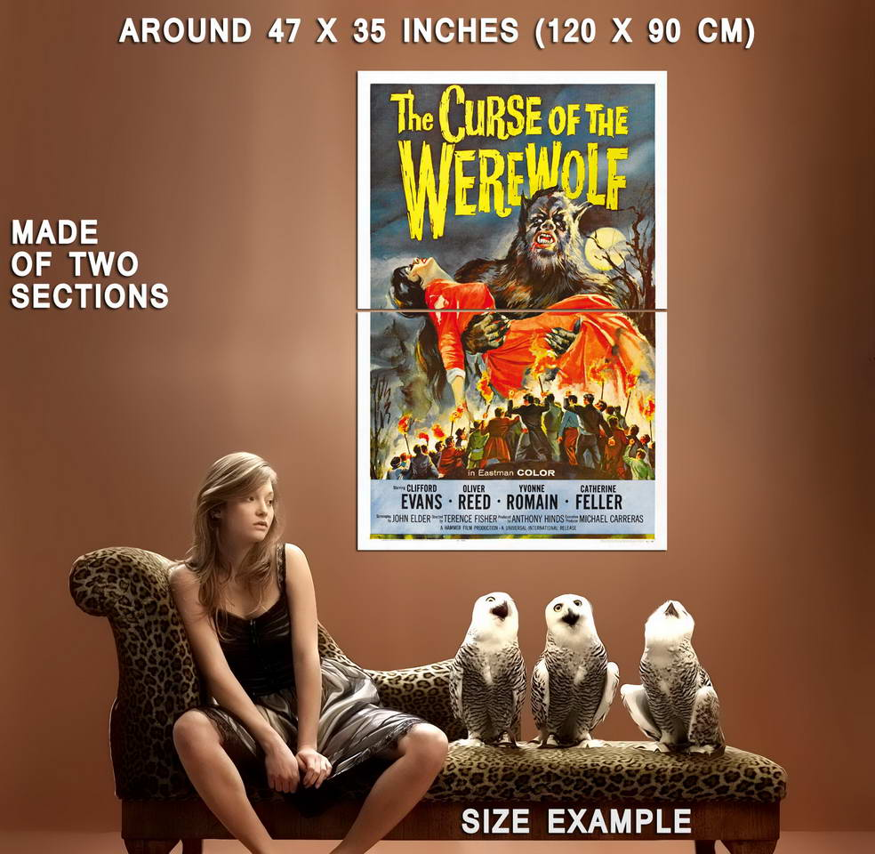 72437-CURSE-OF-THE-WEREWOLF-Movie-Hammer-Horror-RARE-Wall-Print-Poster-Affiche