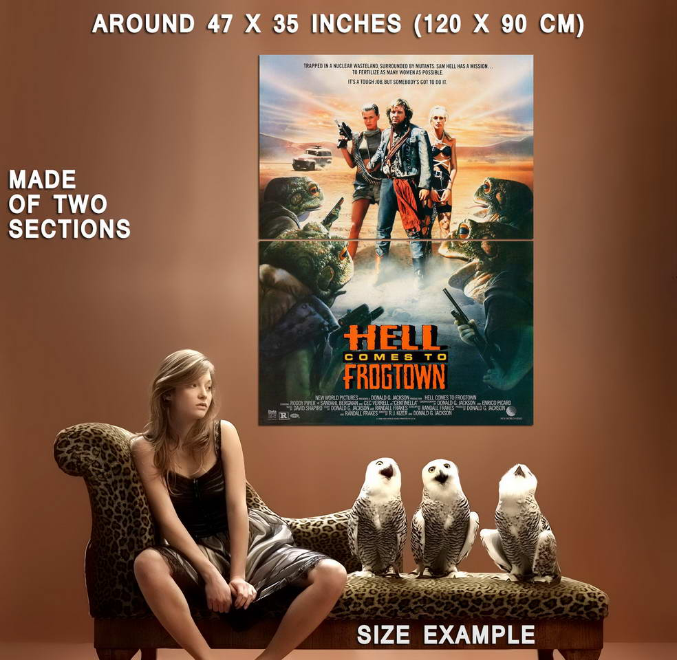 72522-HELL-COMES-TO-FROGTOWN-Sci-Fi-Rowdy-Roddy-Piper-Wall-Print-Poster-Affiche