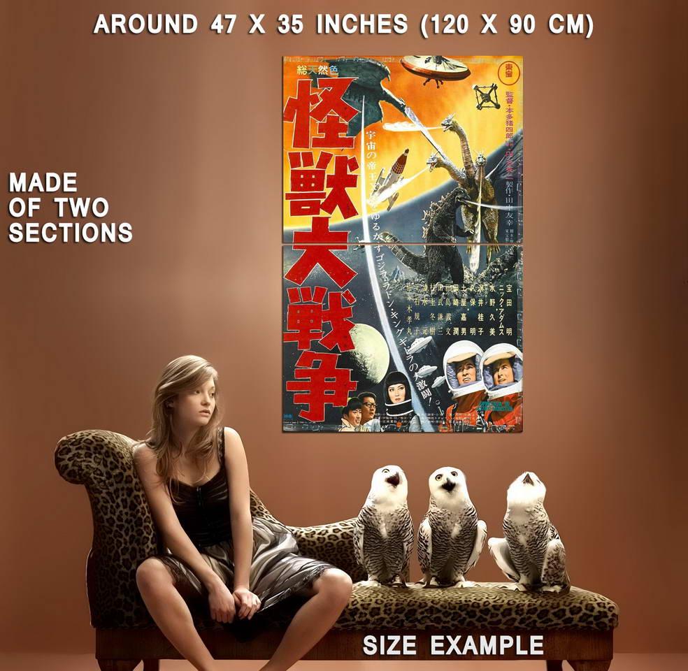 72533-GODZILLA-VS-ZERO-GOJIRA-Japanese-Giant-Wall-Print-Poster-Affiche