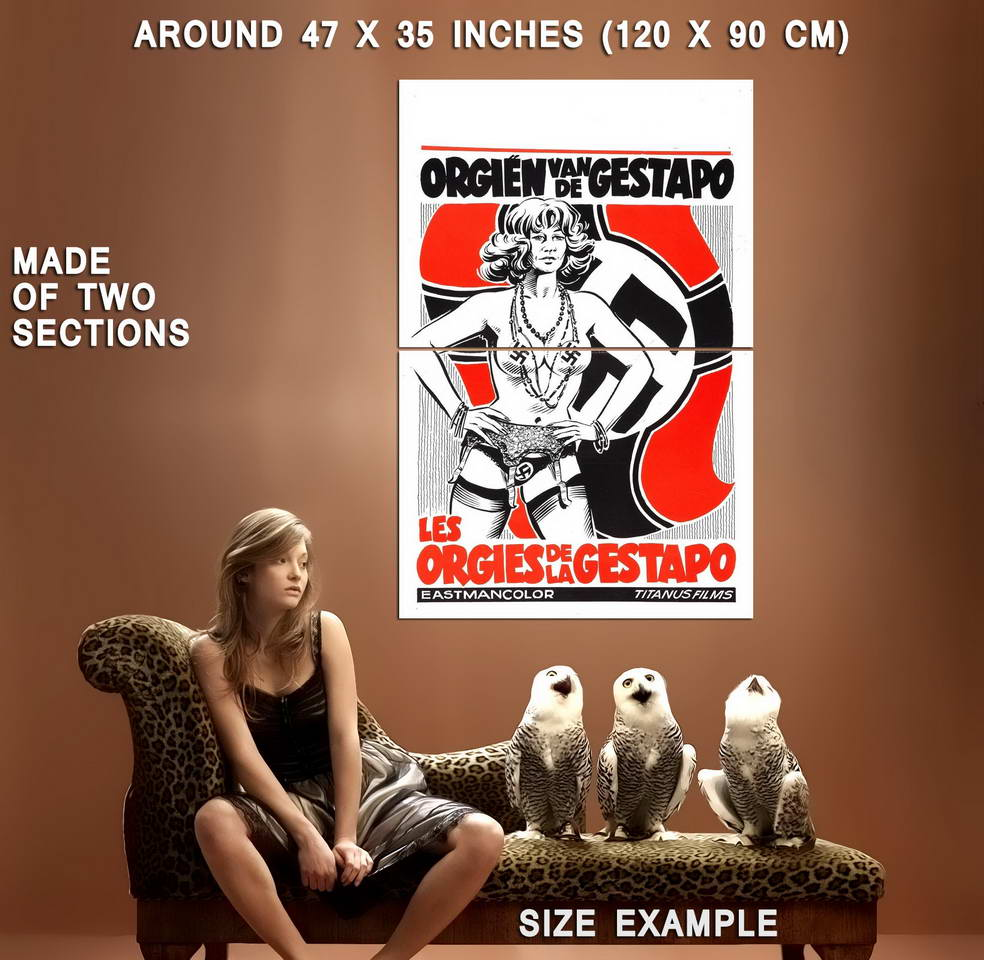 72629-ORGY-OF-THE-GESTAPO-Grindhouse-Exploitation-Nazi-Wall-Print-Poster-Affiche