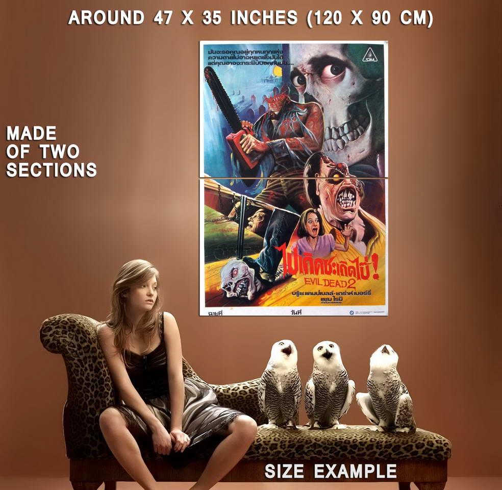 72846-EVIL-DEAD-II-Movie-Bruce-Campbell-Sam-Raimi-Wall-Print-Poster-Affiche