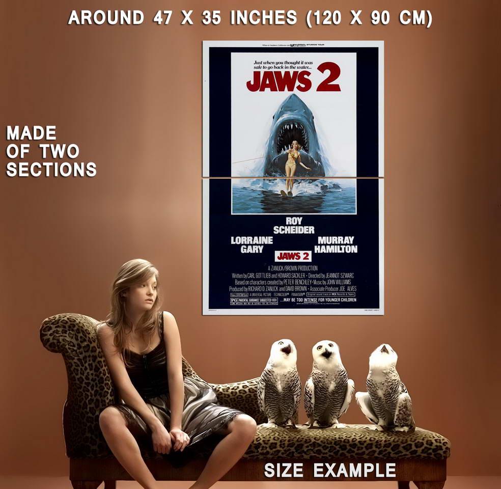 72875-Jaws-2-1978-Thriller-Horror-Movie-Roy-Scheider-Wall-Print-Poster-Affiche