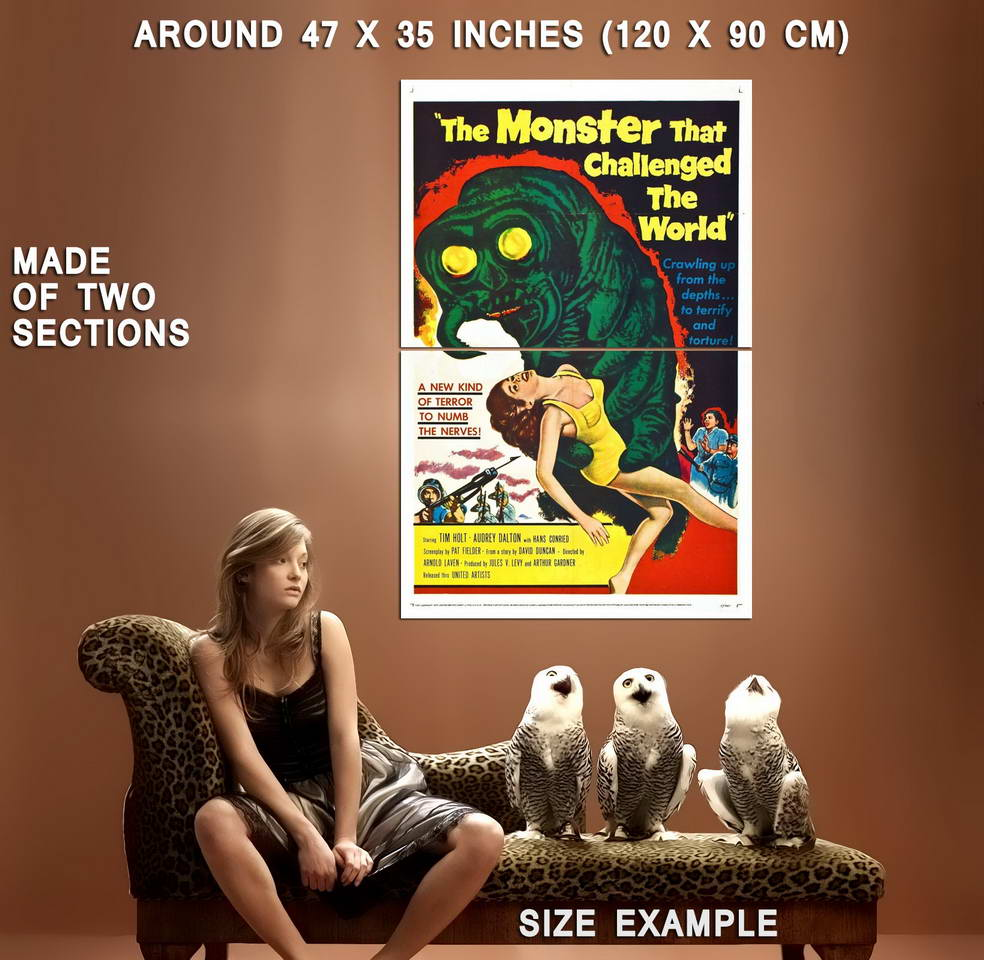 72910-THE-MONSTER-THAT-CHALLENGED-THE-WORLD-SCi-Fi-Wall-Print-Poster-Affiche