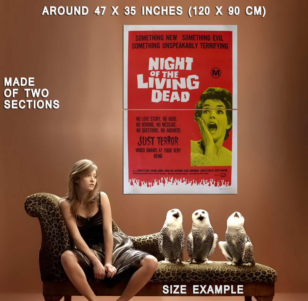73063-NIGHT-OF-THE-LIVING-DEAD-Movie-RARE-Zombies-Wall-Print-Poster-Affiche