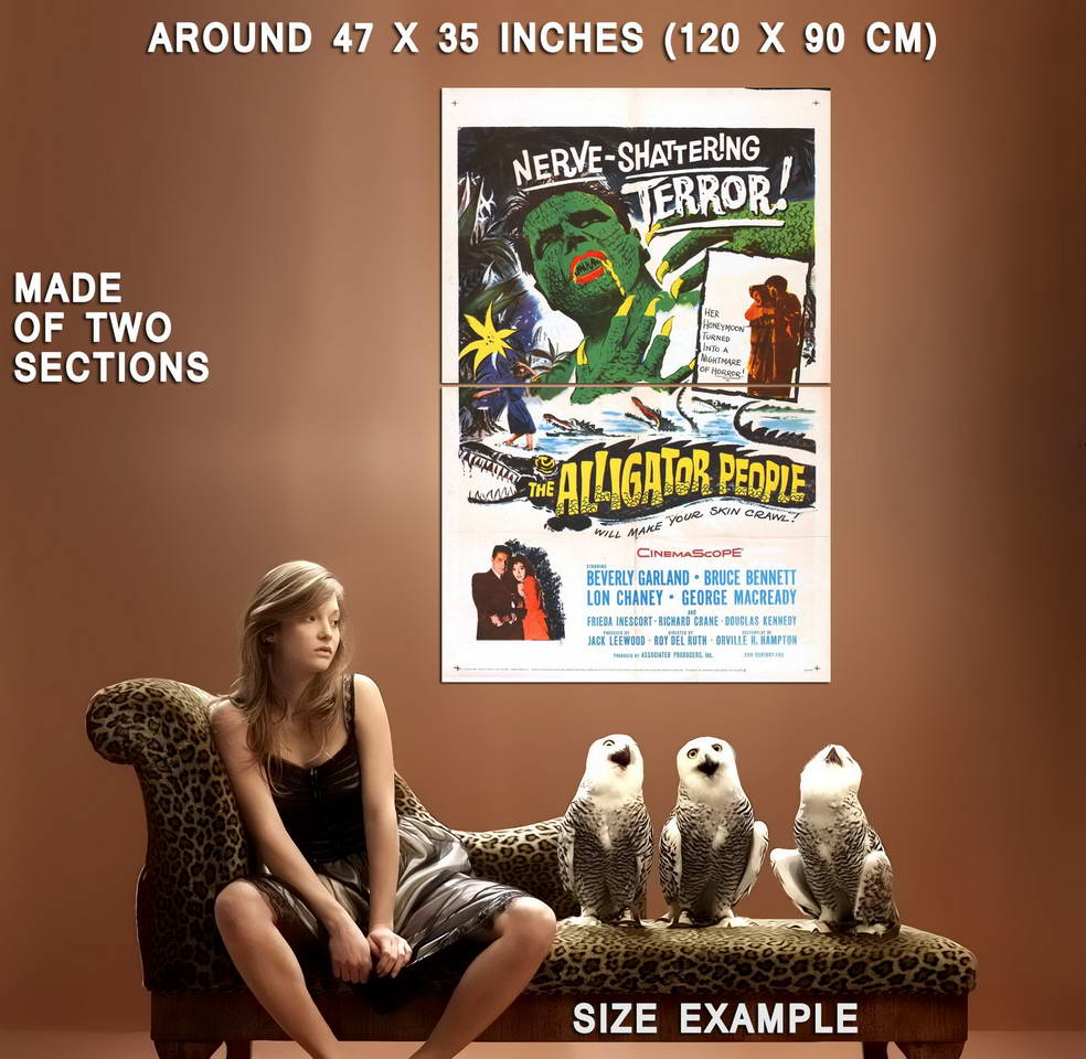 73461-The-Alligator-People-Movie-1959-Horror-Sci-Fi-Wall-Print-Poster-Affiche