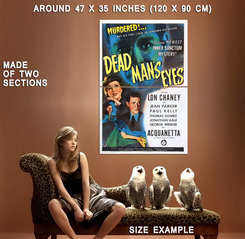 73621-Dead-Man-039-s-Eyes-Movie-1944-Mystery-Wall-Print-Poster-Affiche