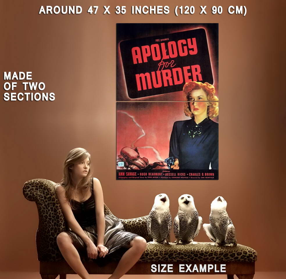 73835-Apology-for-Murder-Movie-1945-Drama-Noir-Wall-Print-Poster-Affiche