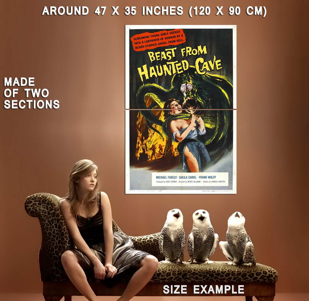 73967-Beast-from-Haunted-Cave-Movie-1959-Thriller-Wall-Print-Poster-Affiche