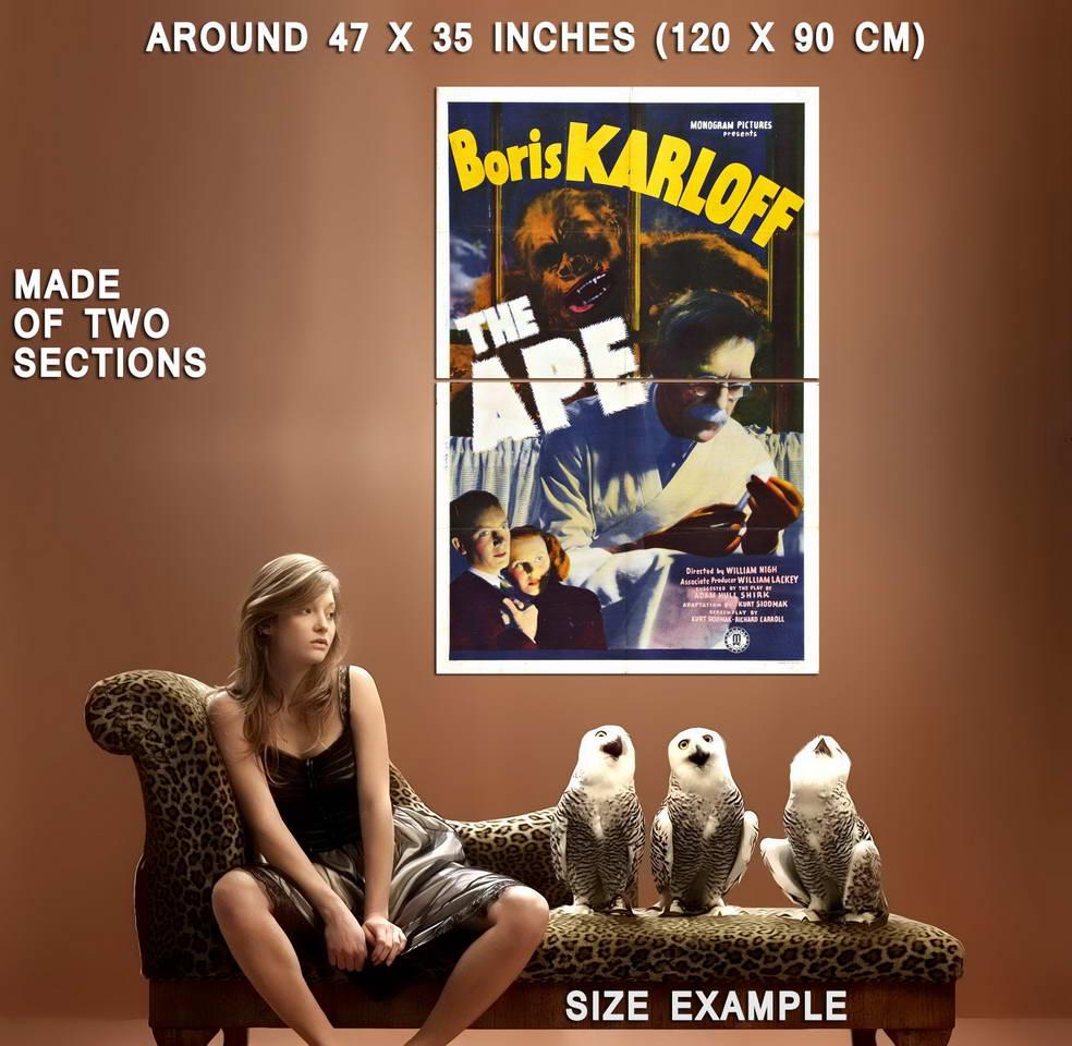74054-THE-APE-1940-Boris-Karloff-Universal-Monster-Wall-Print-Poster-Affiche
