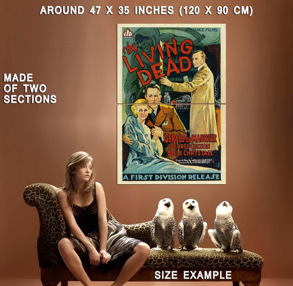 74215-THE-LIVING-DEAD-Movie-RARE-Horror-Classic-Wall-Print-Poster-Affiche
