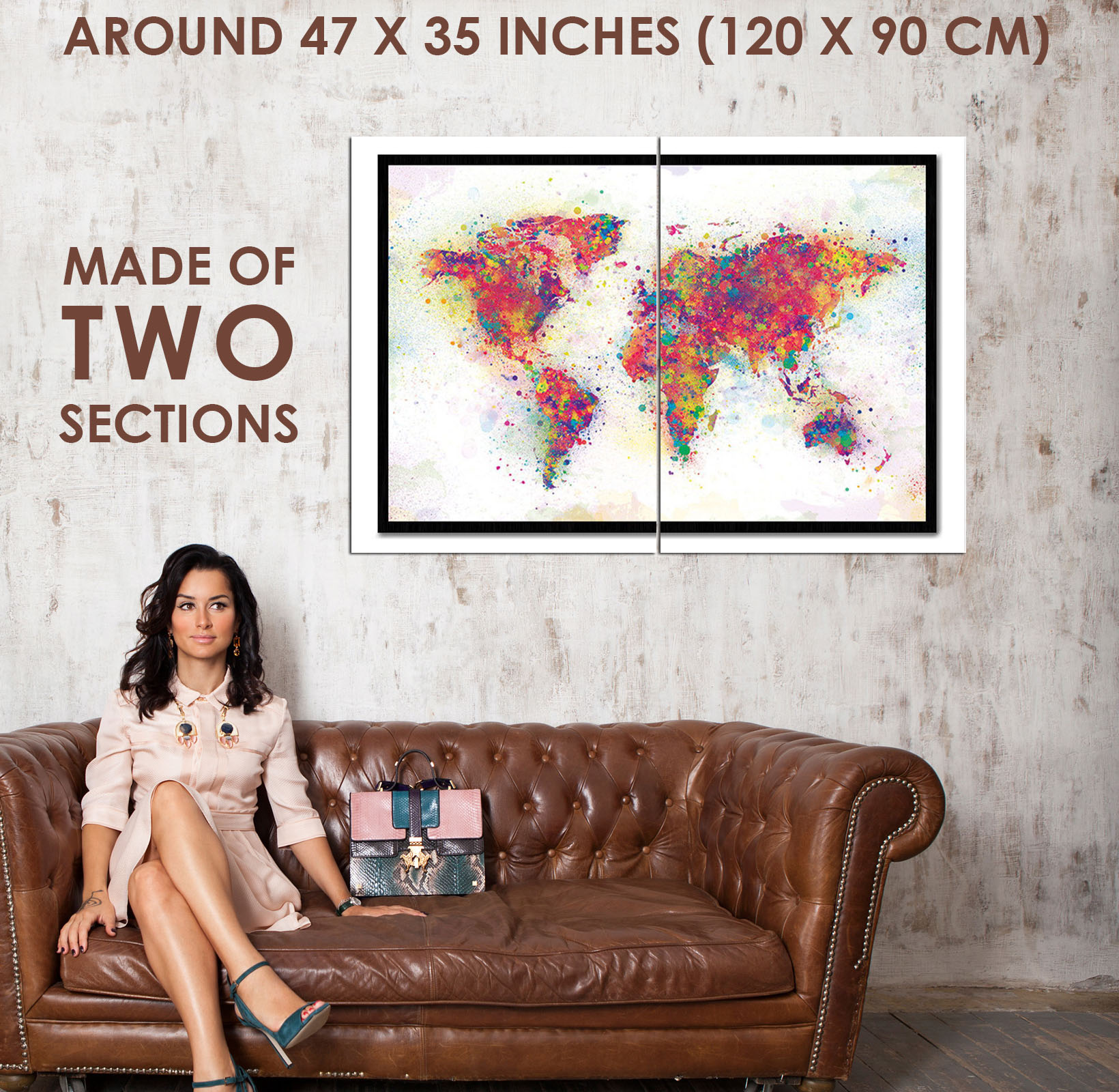 89684 world map colour splash cork pin with pins decor wall print 89684 world map colour splash cork pin with gumiabroncs Images