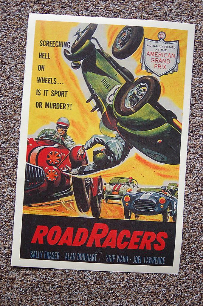 93596 Road Racer Lobby Card Salley Fraser Decor WALL PRINT POSTER DE