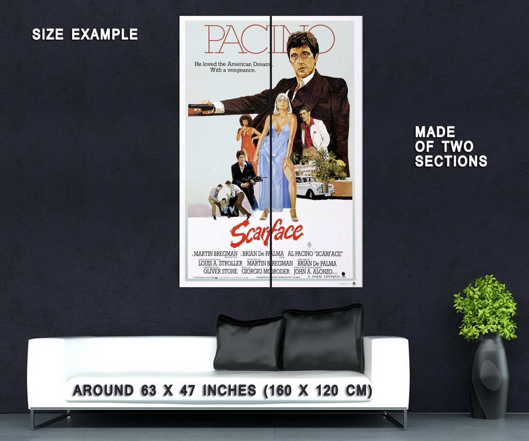 61178-SCARFACE-Al-Pacino-Gangster-Drugs-Brian-De-Palma-Wall-Print-Poster-Affiche