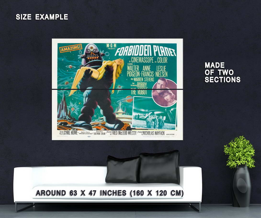 63417-FORBIDDEN-PLANET-Rare-50-039-s-Horror-Sci-Fi-Wall-Print-Poster-Affiche
