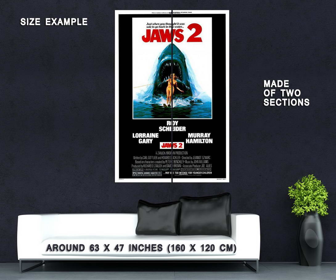 65718-Jaws-2-Movie-Roy-Scheider-Lorraine-Gary-Wall-Print-Poster-Affiche