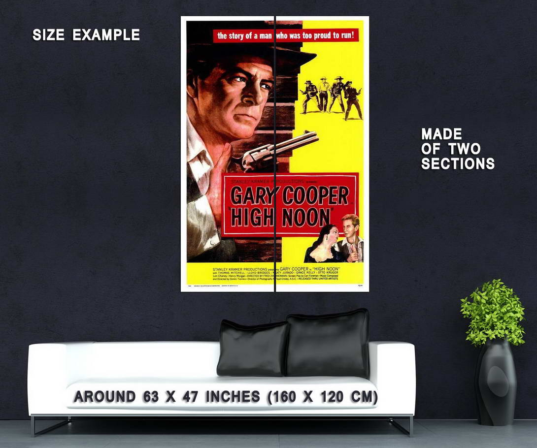 66231-High-Noon-Movie-Gary-Cooper-Grace-Kelly-Wall-Print-Poster-Affiche