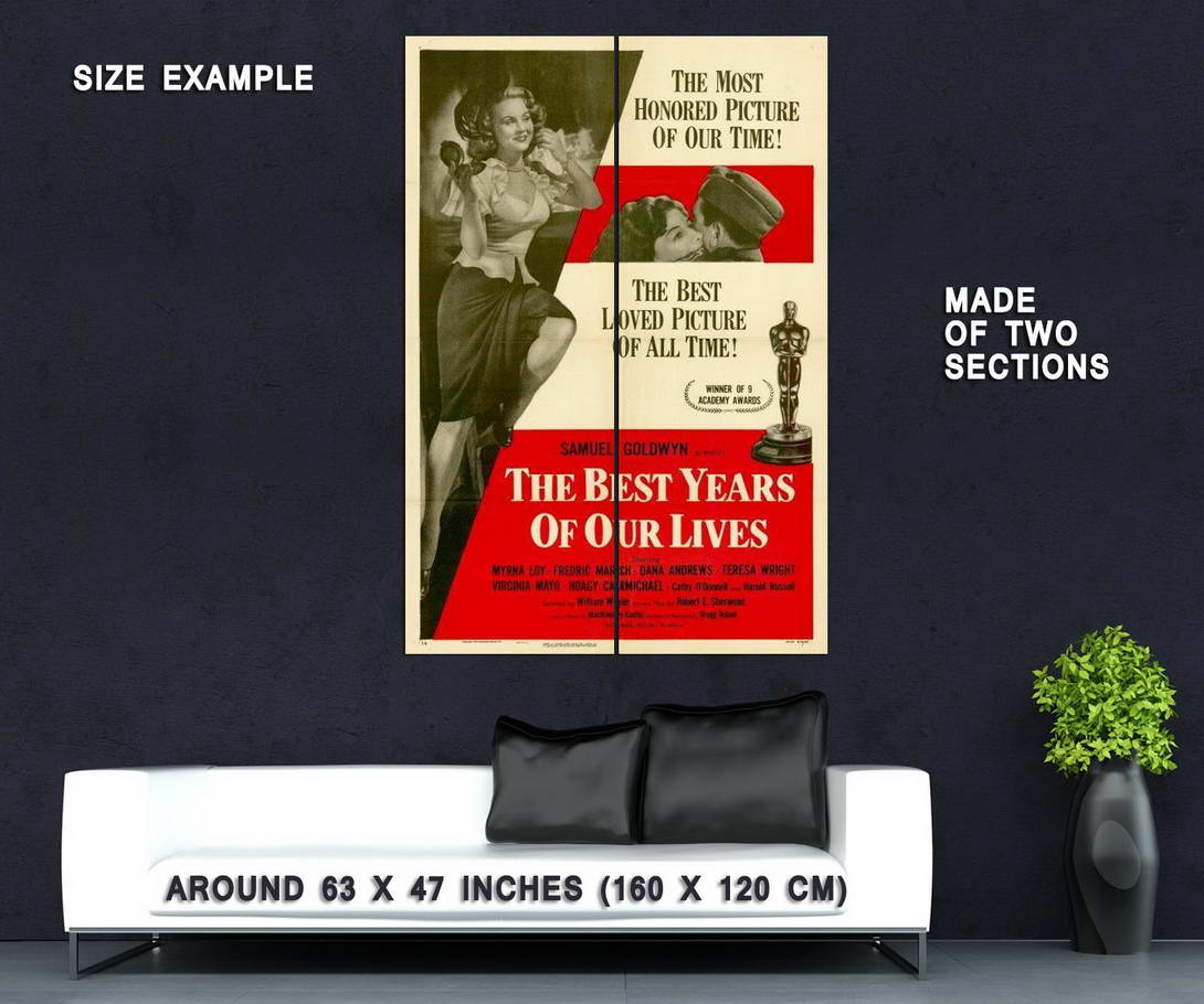 67216-The-Best-Years-of-Our-Lives-Movie-Fredric-March-Wall-Print-Poster-Affiche
