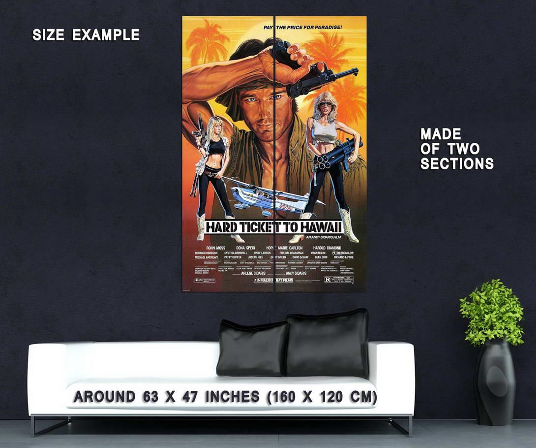 72261-HARD-TICKET-TO-HAWAII-XXX-Exploitation-vhs-era-Wall-Print-Poster-Affiche