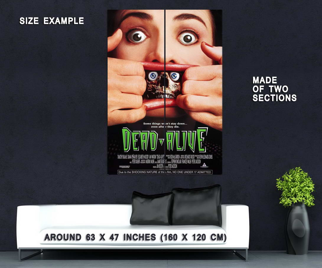 72283-DEAD-ALIVE-aka-BRAIN-DEAD-BRAINDEAD-Movie-1992-Wall-Print-Poster-Affiche