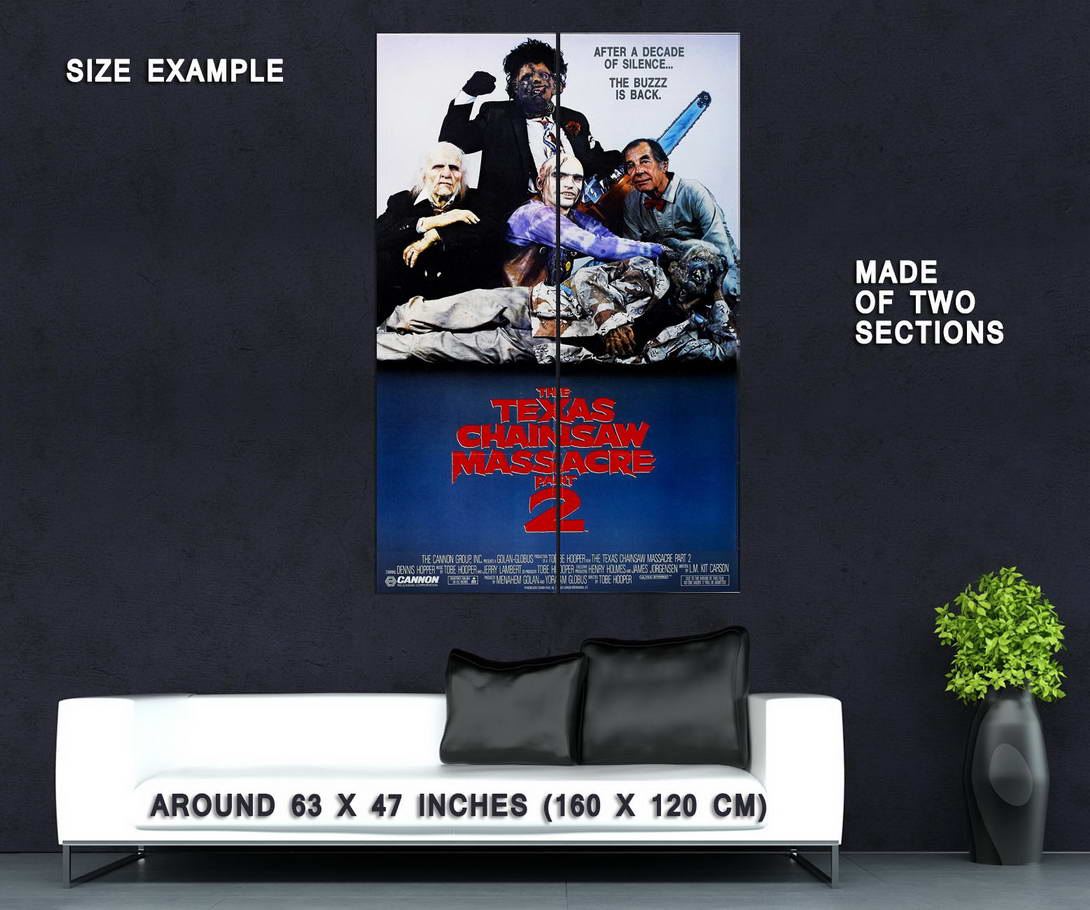 72296-THE-TEXAS-CHAINSAW-MASSACRE-Part-2-Leatherface-Wall-Print-Poster-Affiche