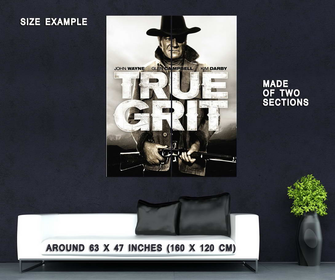 72348-TRUE-GRIT-Movie-RARE-Western-Wall-Print-Poster-Affiche