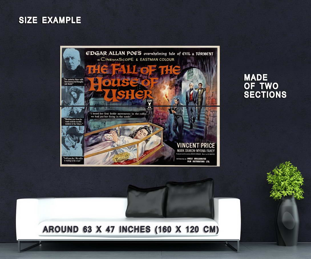 72404-THE-FALL-OF-THE-HOUSE-OF-USHER-Vincent-Price-Wall-Print-Poster-Affiche