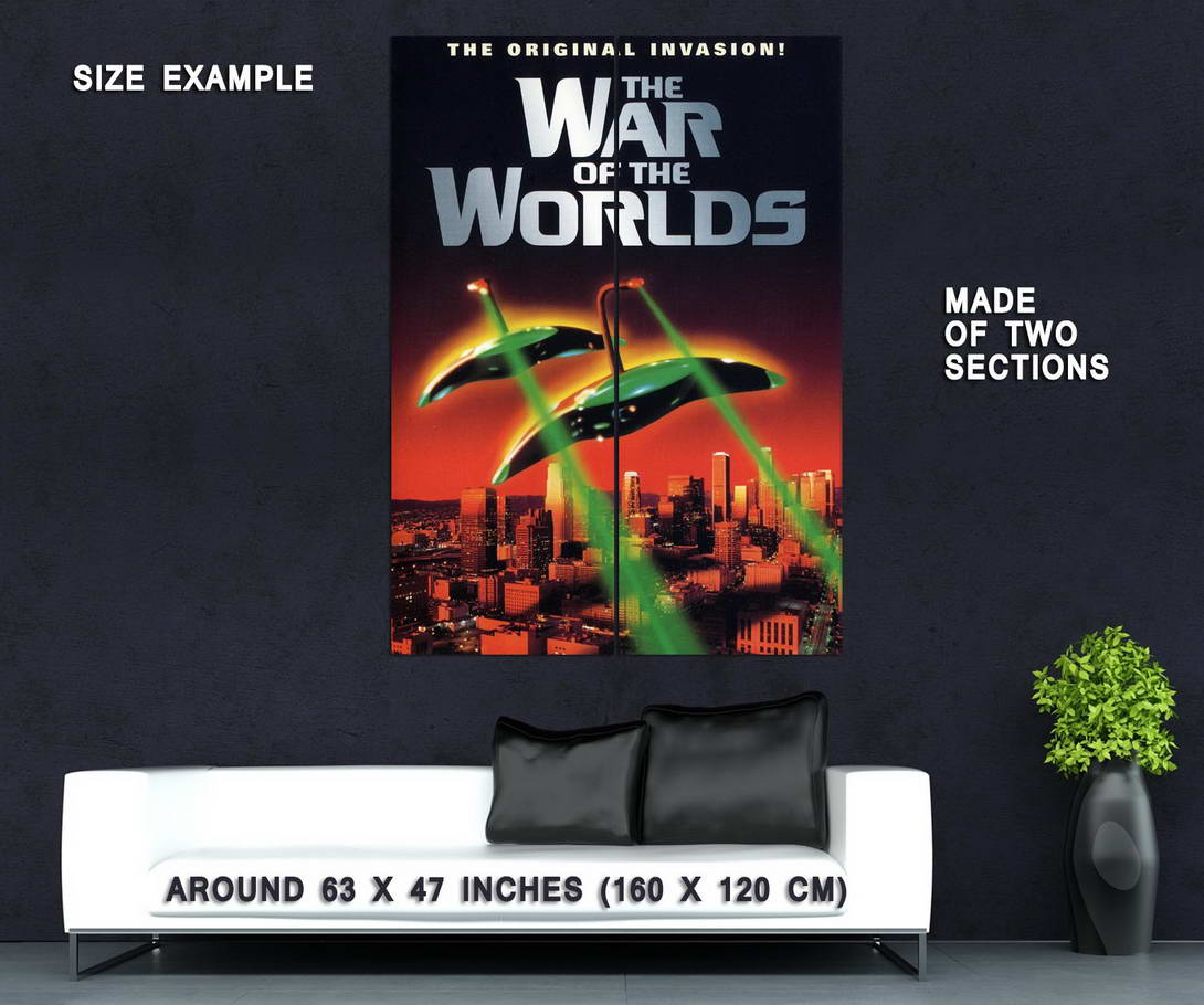 72509-The-War-of-the-Worlds-1953-Movie-H-G-Wells-Wall-Print-Poster-Affiche