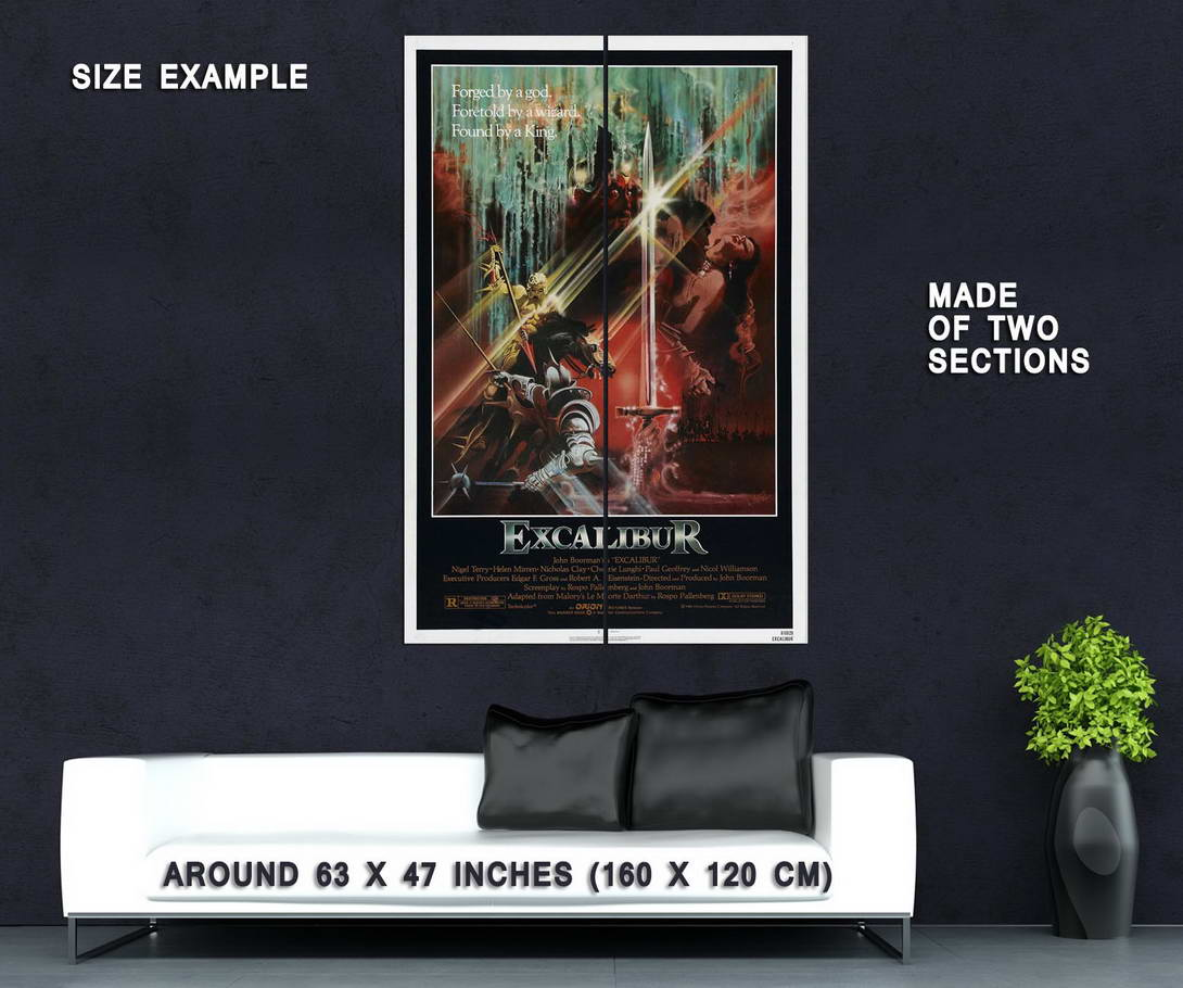 72526-Excalibur-1981-Fantasy-Drama-Movie-Wall-Print-Poster-Affiche