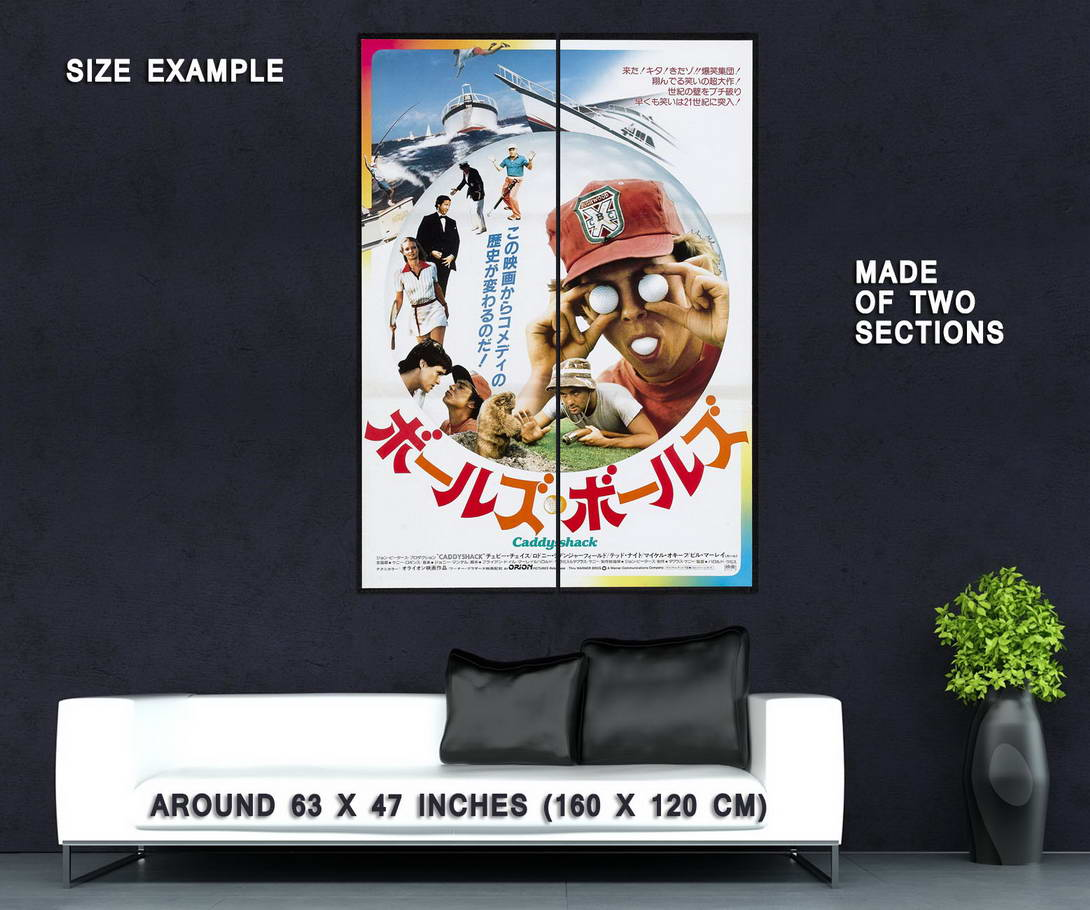 72570-CADDYSHACK-Japanese-Version-Bill-Murray-Chevy-Wall-Print-Poster-Affiche