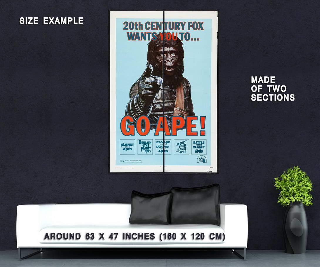72626-PLANET-OF-THE-APES-Movie-Rare-Charlton-Heston-Wall-Print-Poster-Affiche