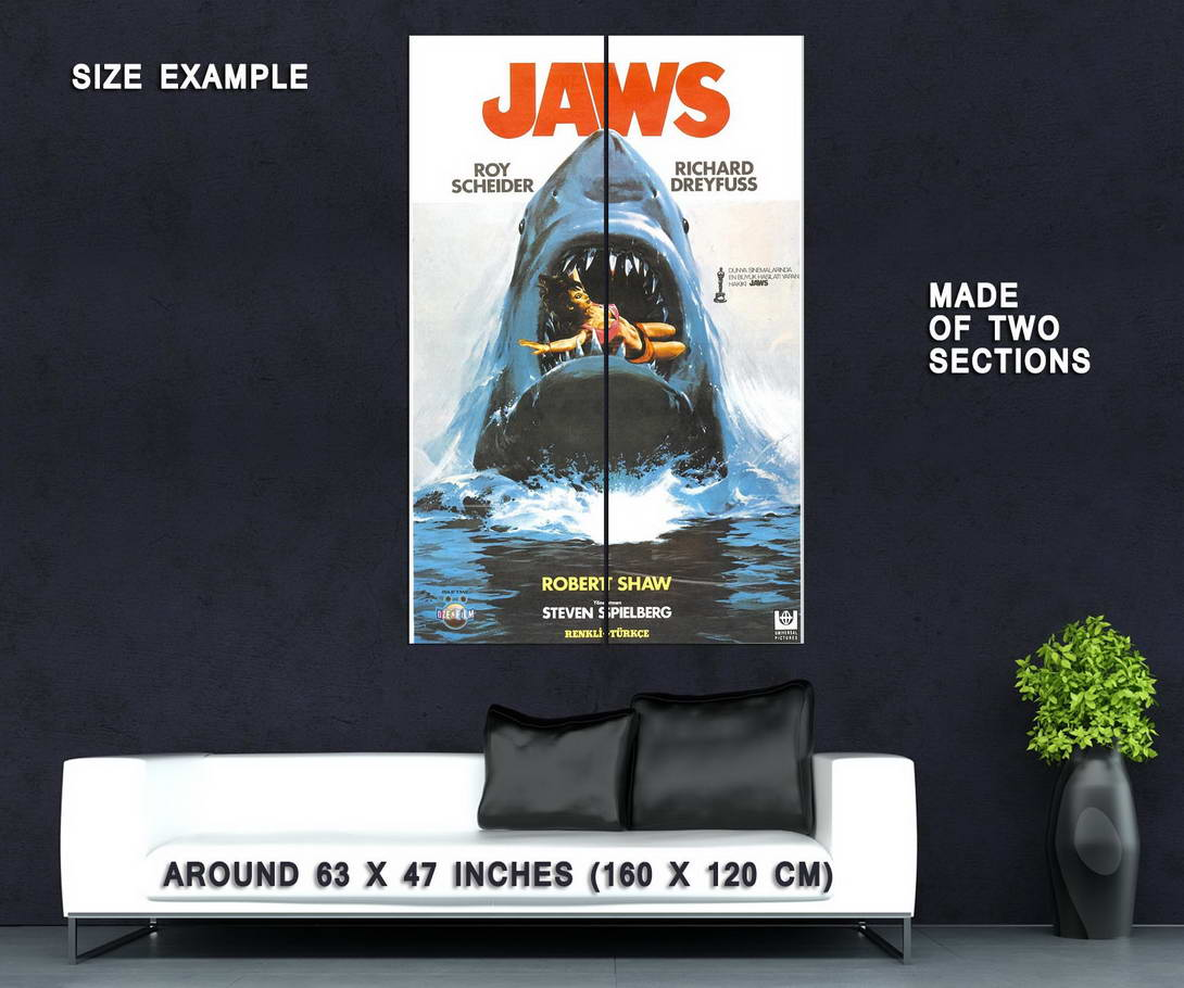 72685-JAWS-Movie-SPEILBERG-Great-White-Wall-Print-Poster-Affiche