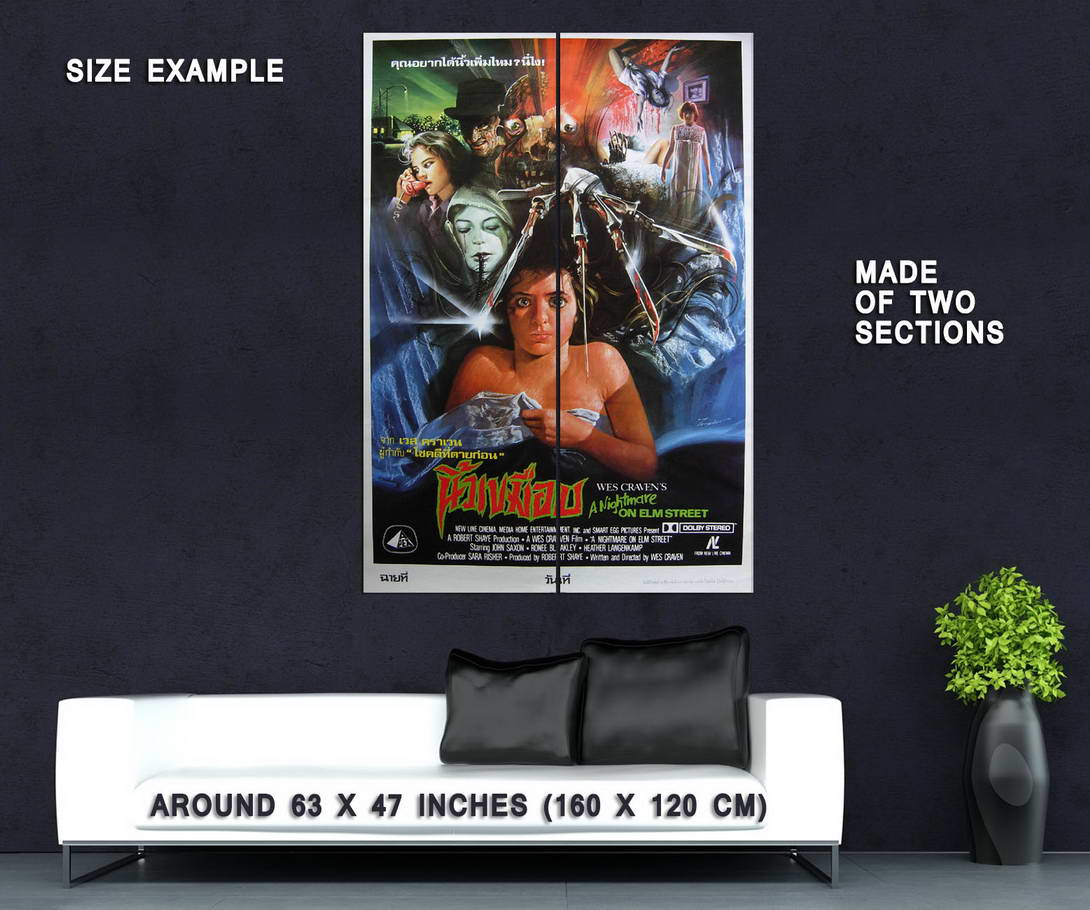 72697-A-NIGHTMARE-ON-ELM-STREET-Movie-80-039-s-VHS-Art-Wall-Print-Poster-Affiche