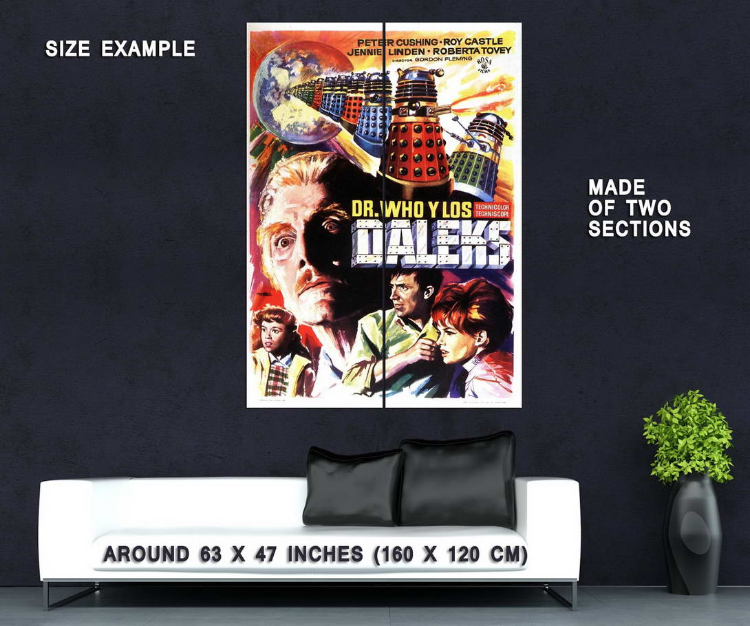 72840-DR-WHO-AND-THE-DALEKS-Movie-1965-Wall-Print-Poster-Affiche