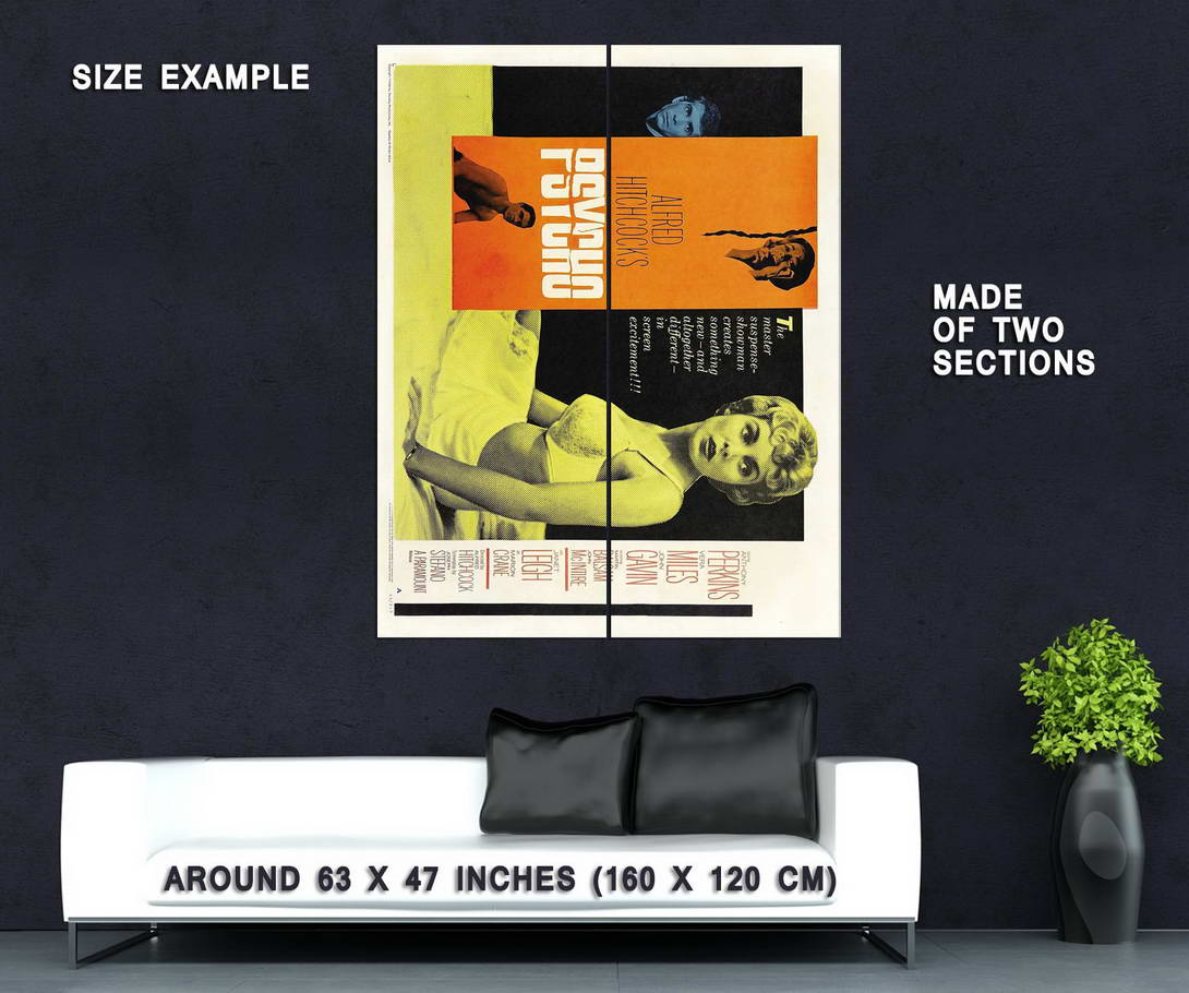 72895-PSYCHO-Movie-1960-Wall-Print-Poster-Affiche