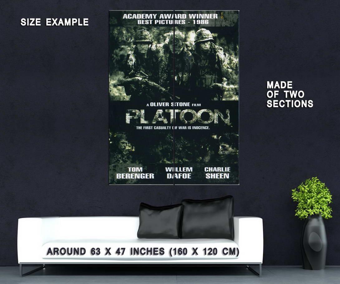 73014-PLATOON-1986-Charlie-Sheen-Veitnam-Oliver-Stone-Wall-Print-Poster-Affiche