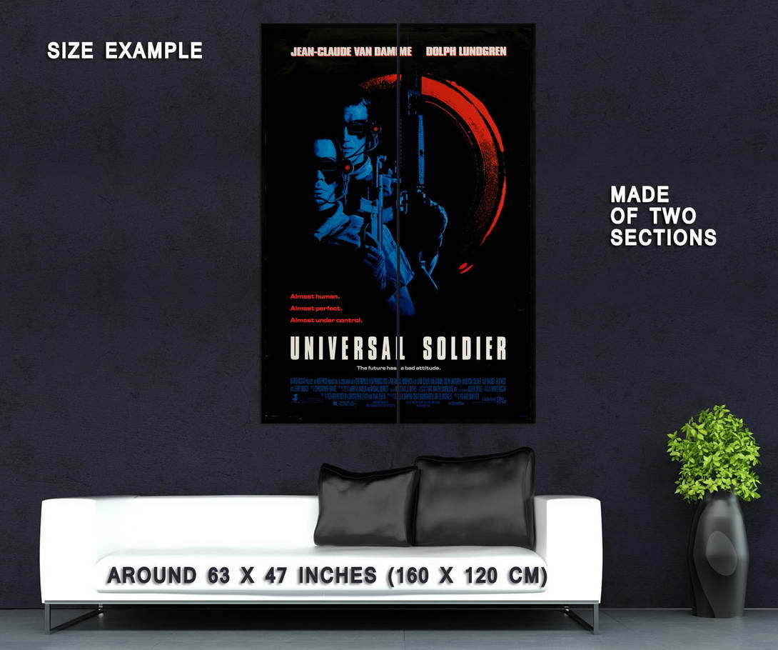 73052-UNIVERSAL-SOLDIER-Movie-Sci-Fi-Rare-Wall-Print-Poster-Affiche