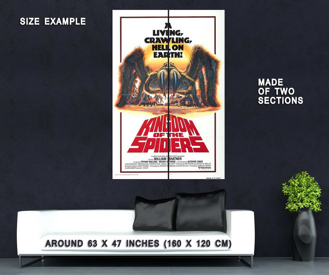 73495-Kingdom-of-the-Spiders-Movie-1977-Sci-Fi-Wall-Print-Poster-Affiche
