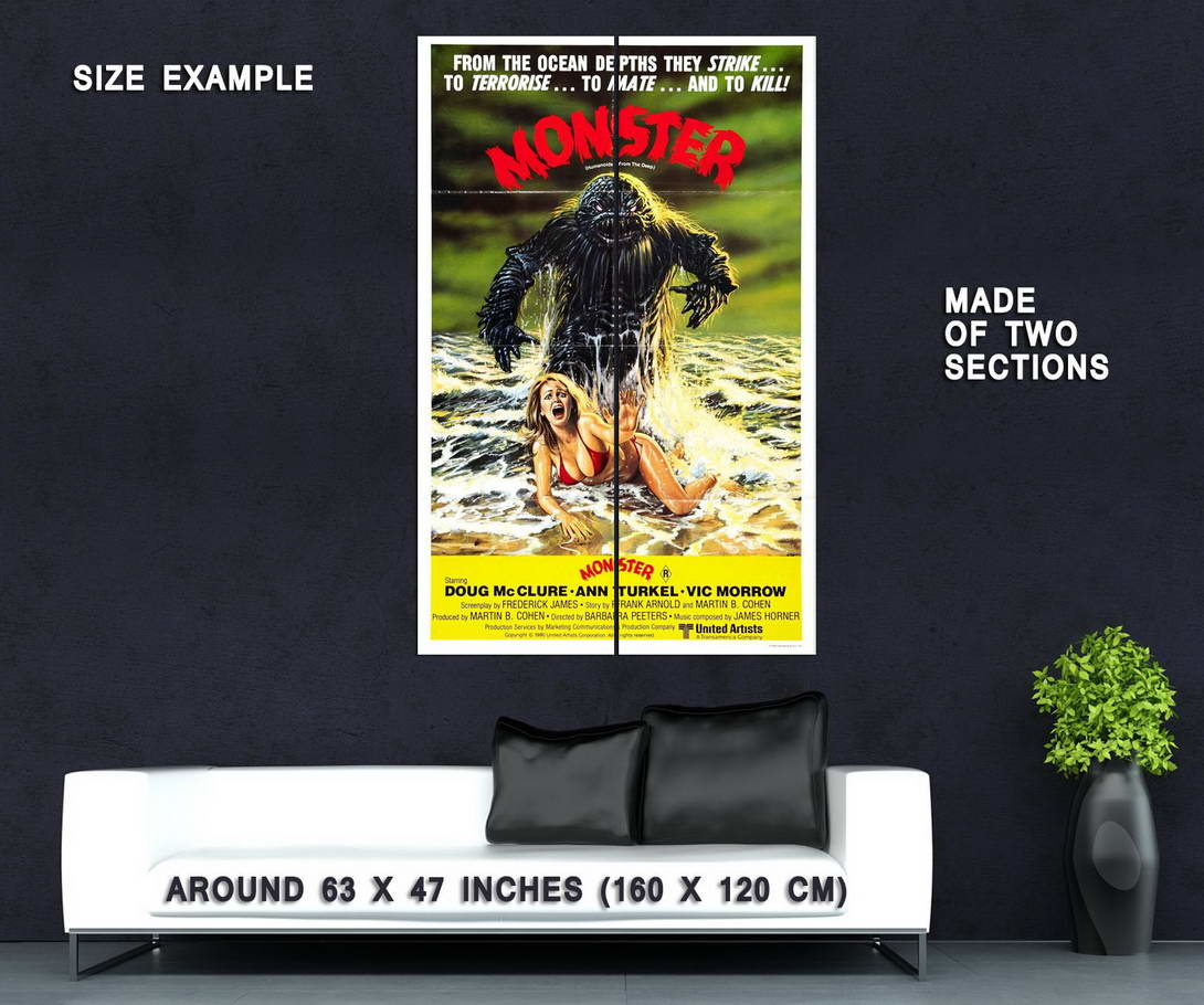 73594-Humanoids-from-the-Deep-Movie-1980-Sci-Fi-Wall-Print-Poster-Affiche