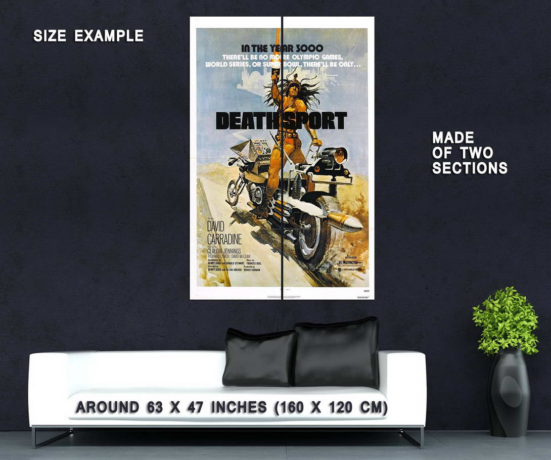 73617-Deathsport-Movie-1978-Indie-Action-Wall-Print-Poster-Affiche