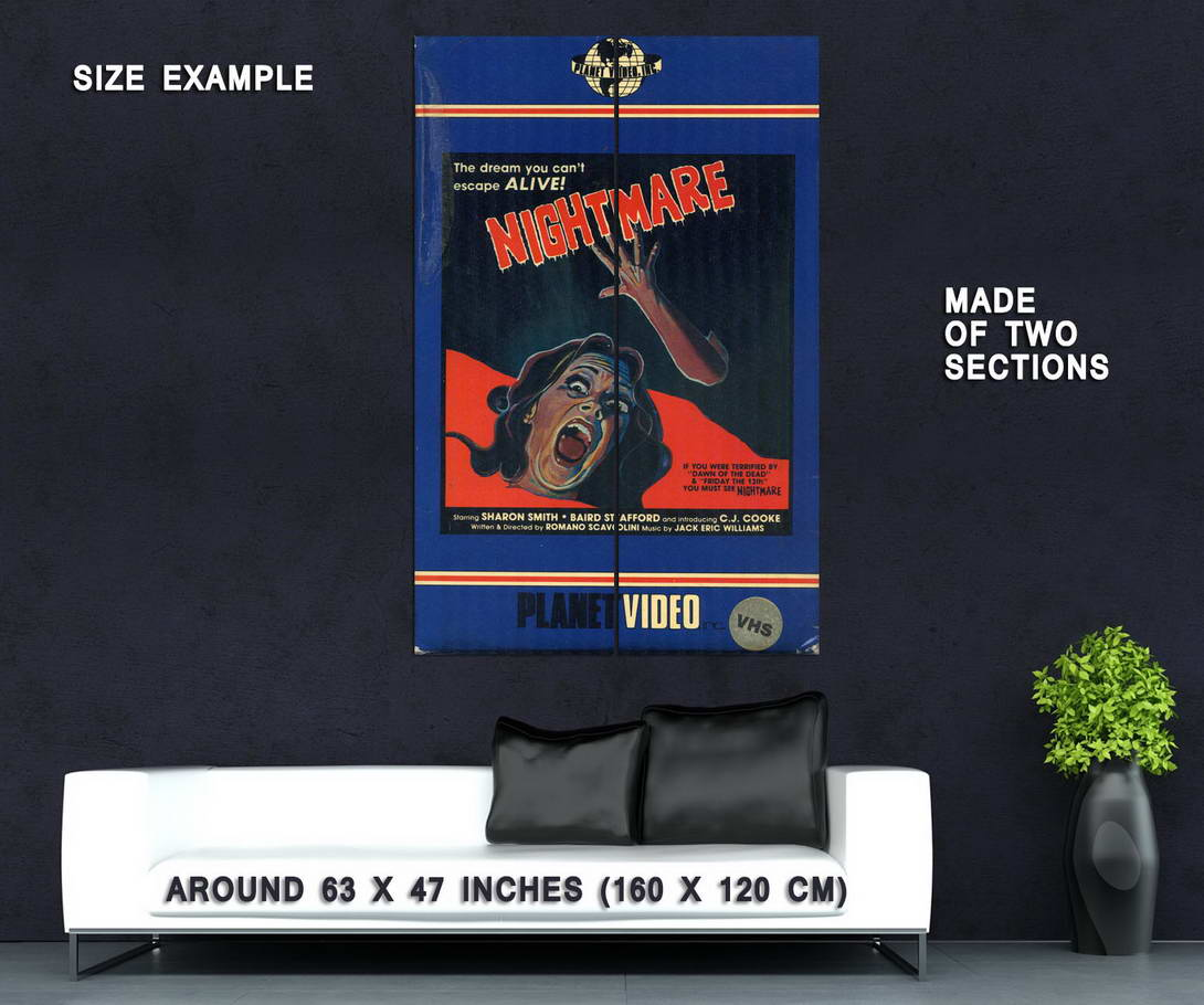 73779-NIGHTMARE-Movie-Horror-VHS-Big-Box-Planet-Video-Wall-Print-Poster-Affiche