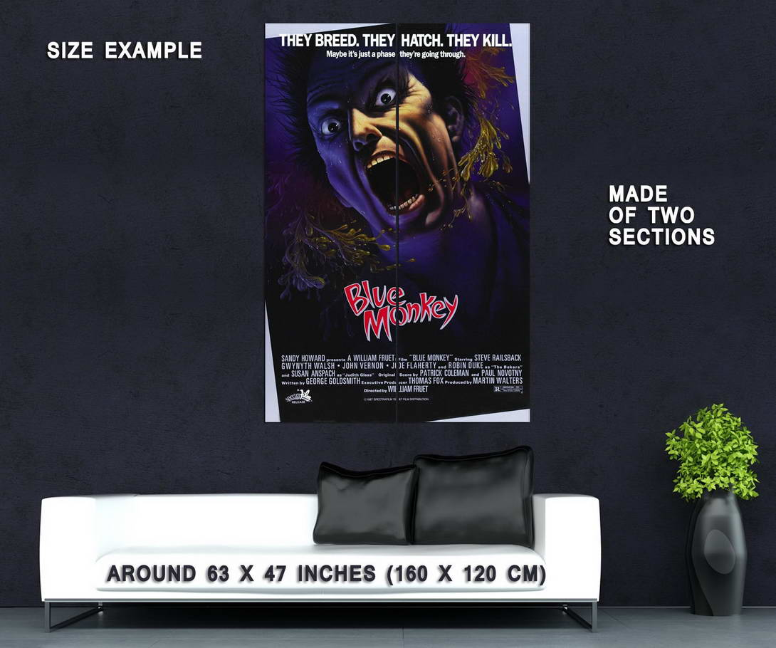 73865-Blue-Monkey-Movie-1987-Horror-Wall-Print-Poster-Affiche