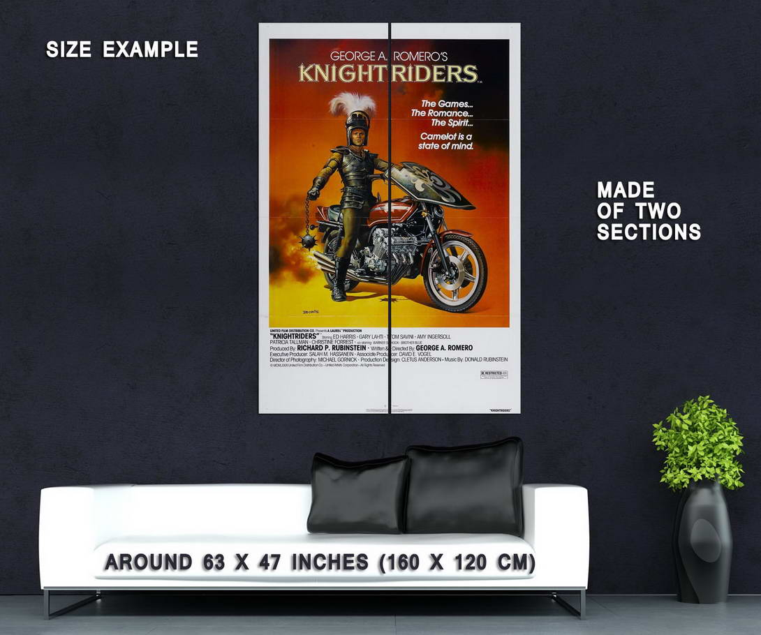 73870-Knightriders-Movie-1981-Drama-Action-Wall-Print-Poster-Affiche