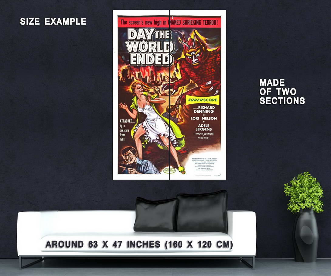 73872-Day-the-World-Ended-Movie-1955-Disaster-Indie-Wall-Print-Poster-Affiche