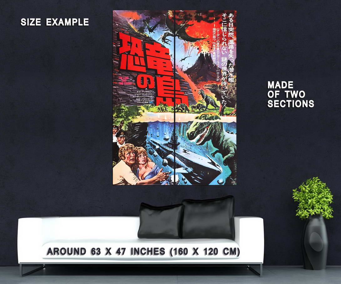 73914-The-Land-That-Time-Forgot-1975-Fantasy-Adventure-Wall-Print-Poster-Affiche