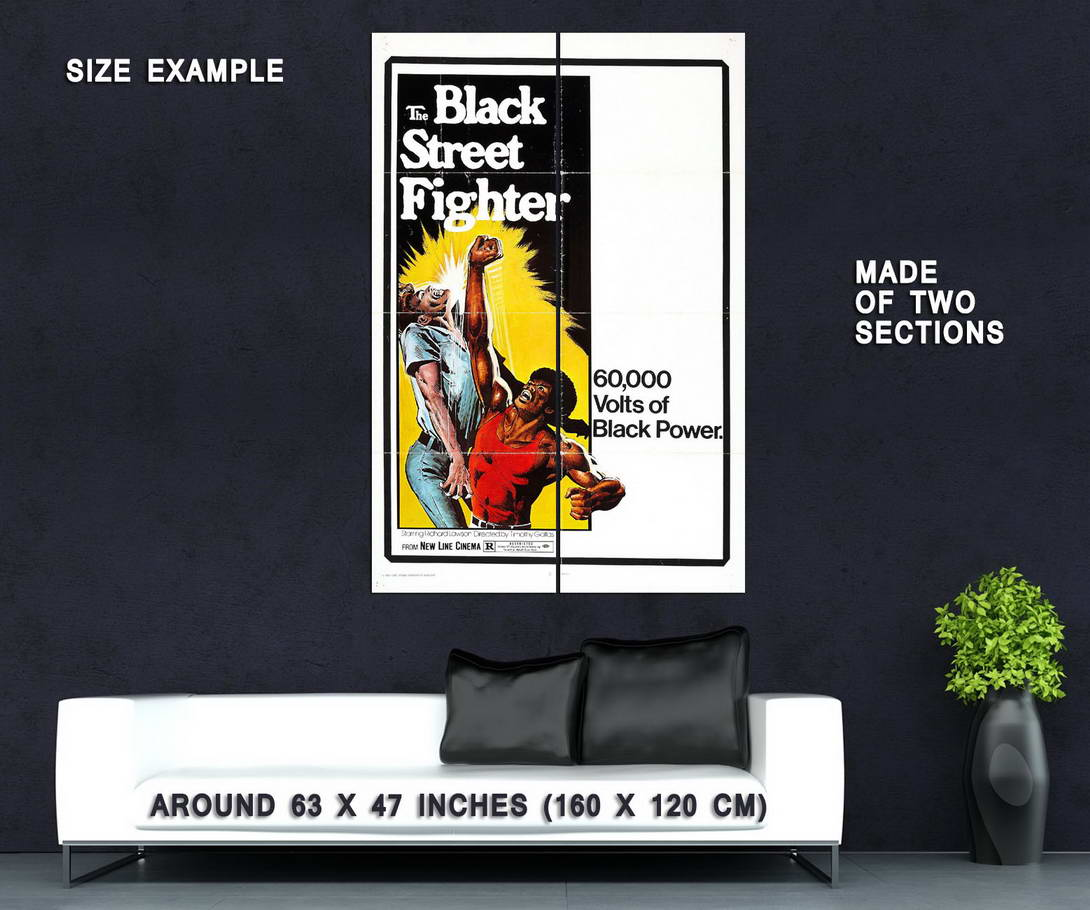 74143-THE-BLACK-STREET-FIGHTER-Movie-Rare-Kung-Fu-Wall-Print-Poster-Affiche