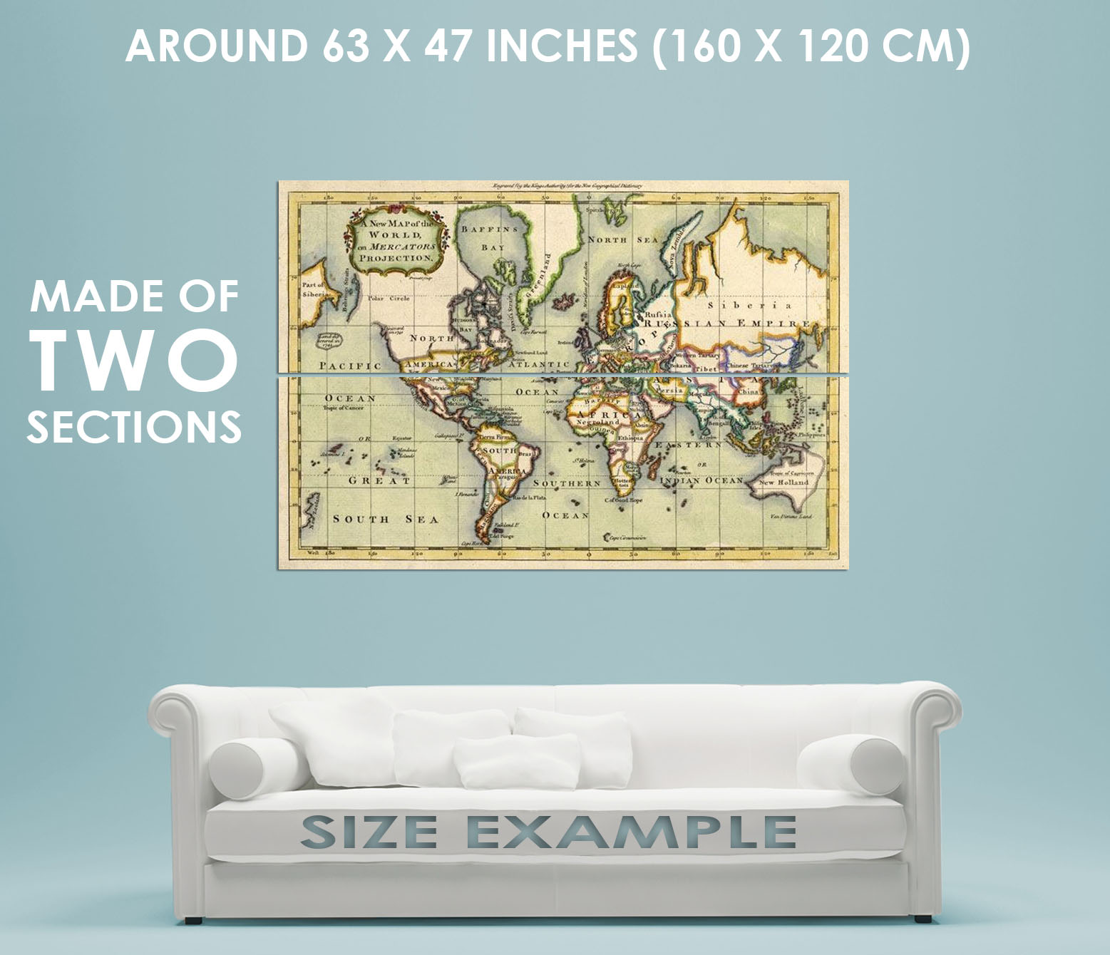 84180 vintage old historical 1766 world map decor wall print poster 84180 vintage old historical 1766 world map decor gumiabroncs Images